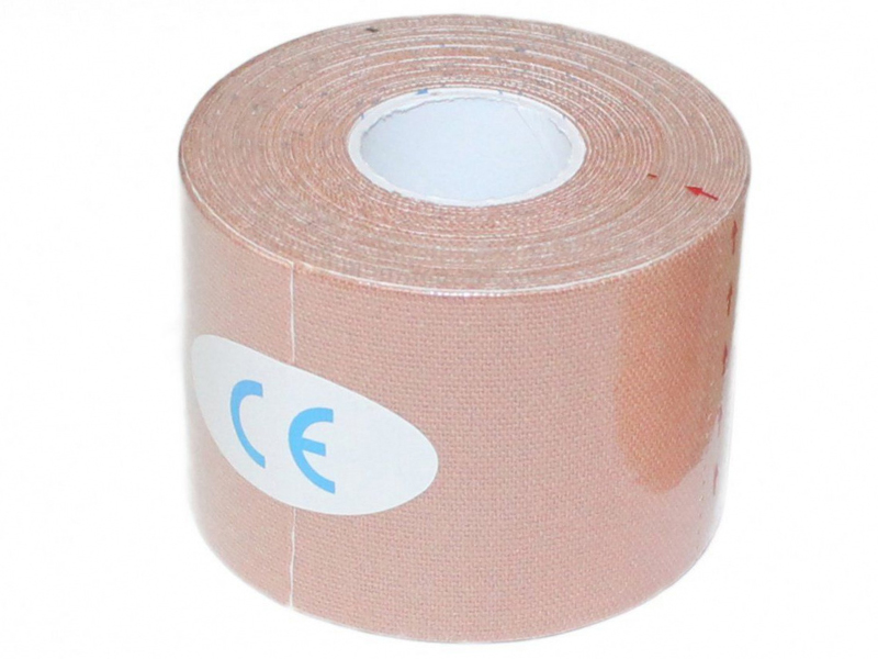 Кинезио лента Bradex Physio Tape 5cm x 5m Beige SF 0192