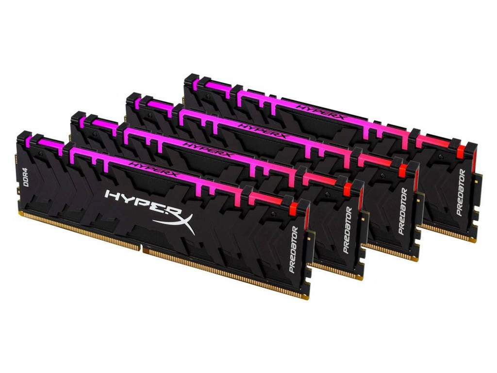 Модуль памяти Kingston HyperX Predator RGB DDR4 DIMM 3600MHz PC-28800 CL17 - 32Gb KIT (4x8Gb) HX436C17PB4AK4/32 цена
