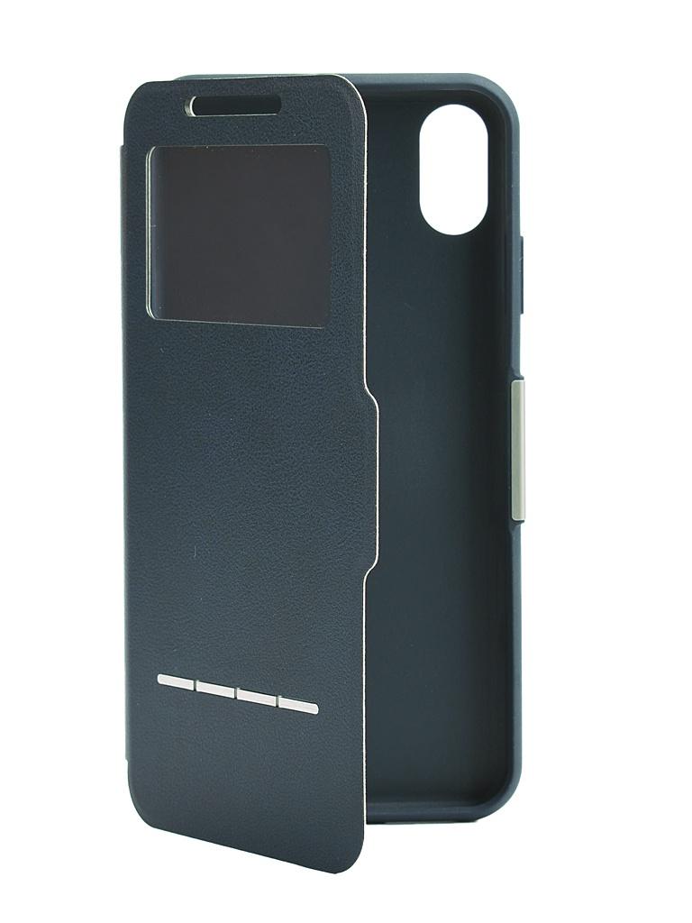 Аксессуар Чехол Moshi для APPLE iPhone XS Max SenseCover Blue 99MO072532 чехол книжка moshi stealthcover для iphone xs max пластик полиуретан розовый 99м0102303