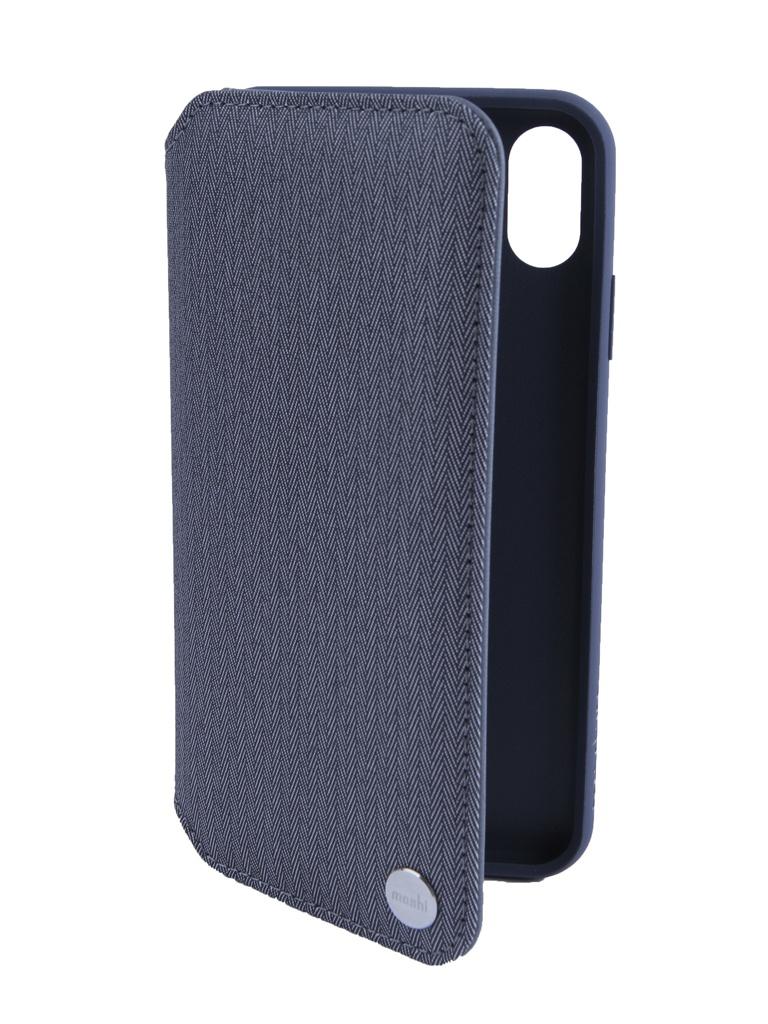 Аксессуар Чехол Moshi для APPLE iPhone XS Max Overture Herringbone Gray 99MO091052 чехол книжка moshi stealthcover для iphone xs max пластик полиуретан розовый 99м0102303
