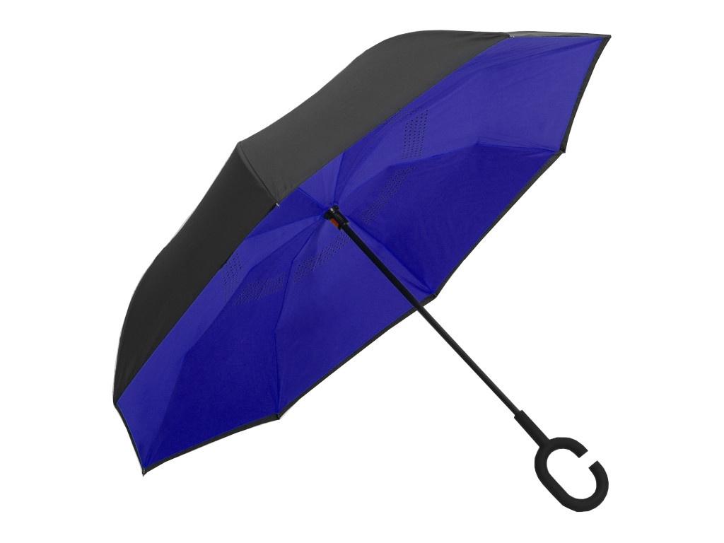 Зонт СИМА-ЛЕНД Однотонный Blue-Black 2825910 самокат сима ленд ot 004 blue 134327