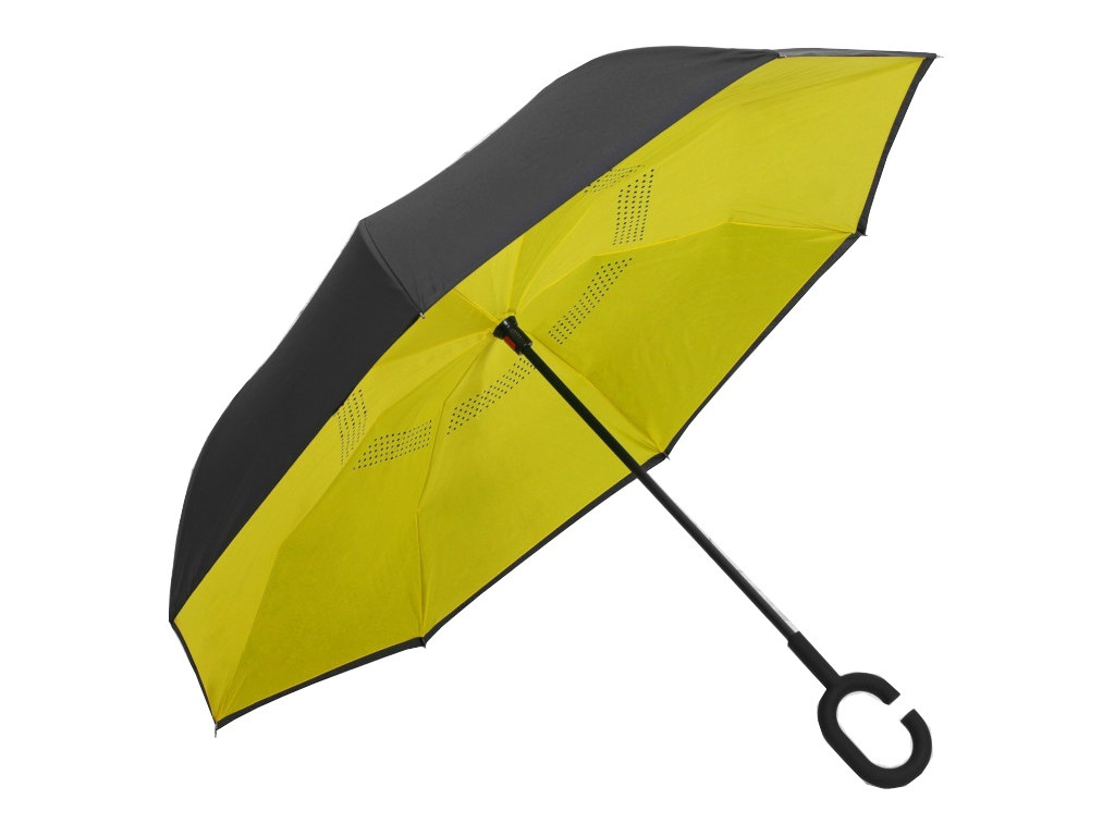 цена Зонт СИМА-ЛЕНД Однотонный Yellow-Black 2825914 онлайн в 2017 году