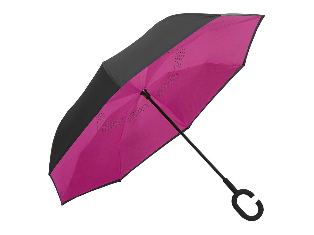 цена Зонт СИМА-ЛЕНД Однотонный Pink-Black 2825911 онлайн в 2017 году