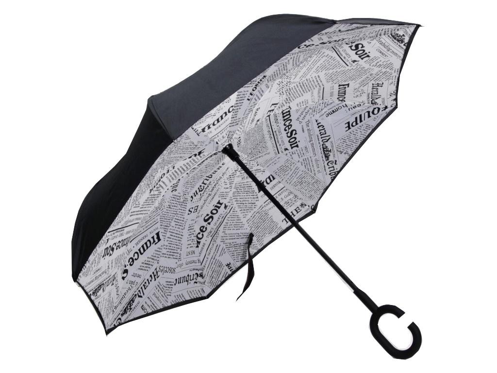 Зонт СИМА-ЛЕНД Газета White-Black 3542615 вешалка на подголовник сима ленд 2шт black 769063