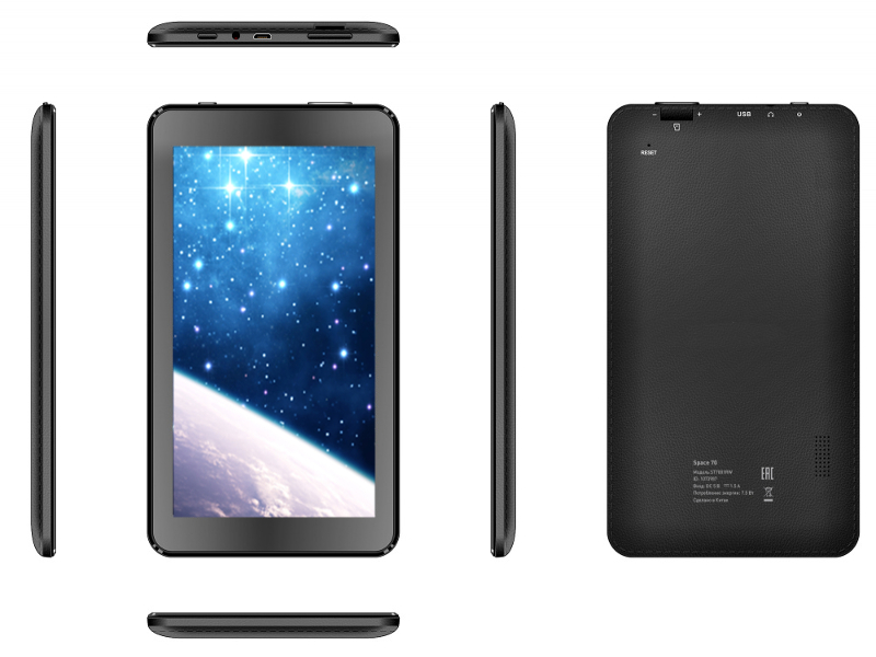 Планшет Arian Space 70 Black st7001rw (RockChip RK3126 1.2 GHz/512Mb/8Gb/Wi-Fi/Bluetooth/Cam/7.0/1024x600/Android) планшет