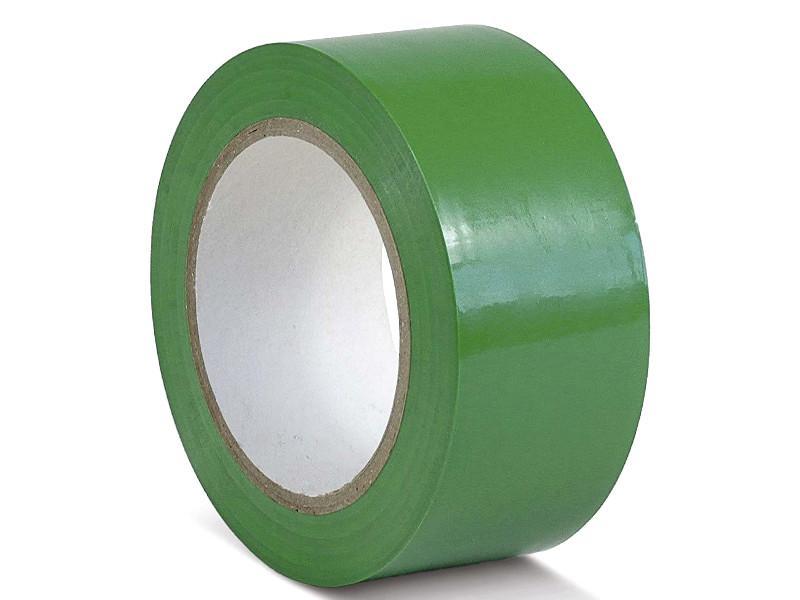 Лента ПВХ Мельхозе 50mm x 33m Green КМSU05033