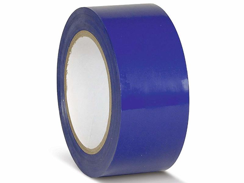 Лента ПВХ Мельхозе 50mm x 33m Blue КМSB05033