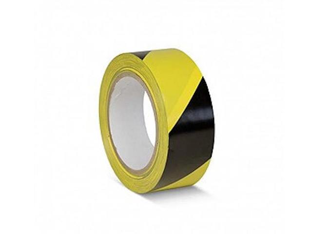 Лента ПВХ Мельхозе 50mm x 33m Yellow-Black КМSW05033
