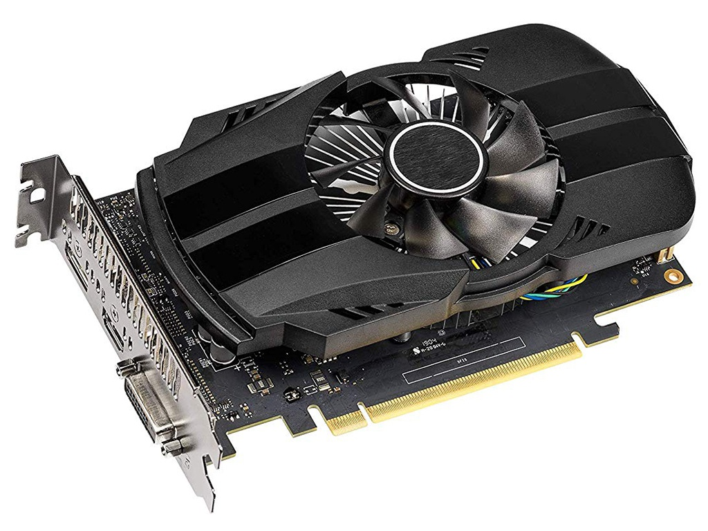 Видеокарта ASUS GeForce GTX 1650 1485Mhz PCI-E 3.0 4096Mb 8002Mhz 128 bit DP HDMI PH-GTX1650-4G