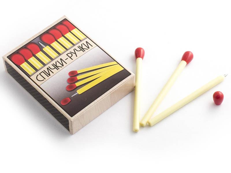 Ручка шариковая Эврика 20 спичек в коробке 91673 эврика ручка шариковая зонт цвет корпуса оранжевый фиолетовый