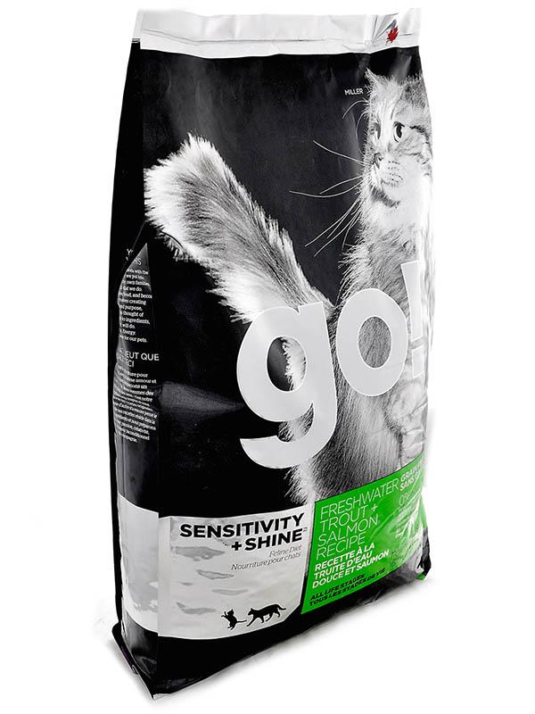 Корм GO! Форель/Лосось 3.63kg для котят и кошек с чувствительным пищеварением 39579