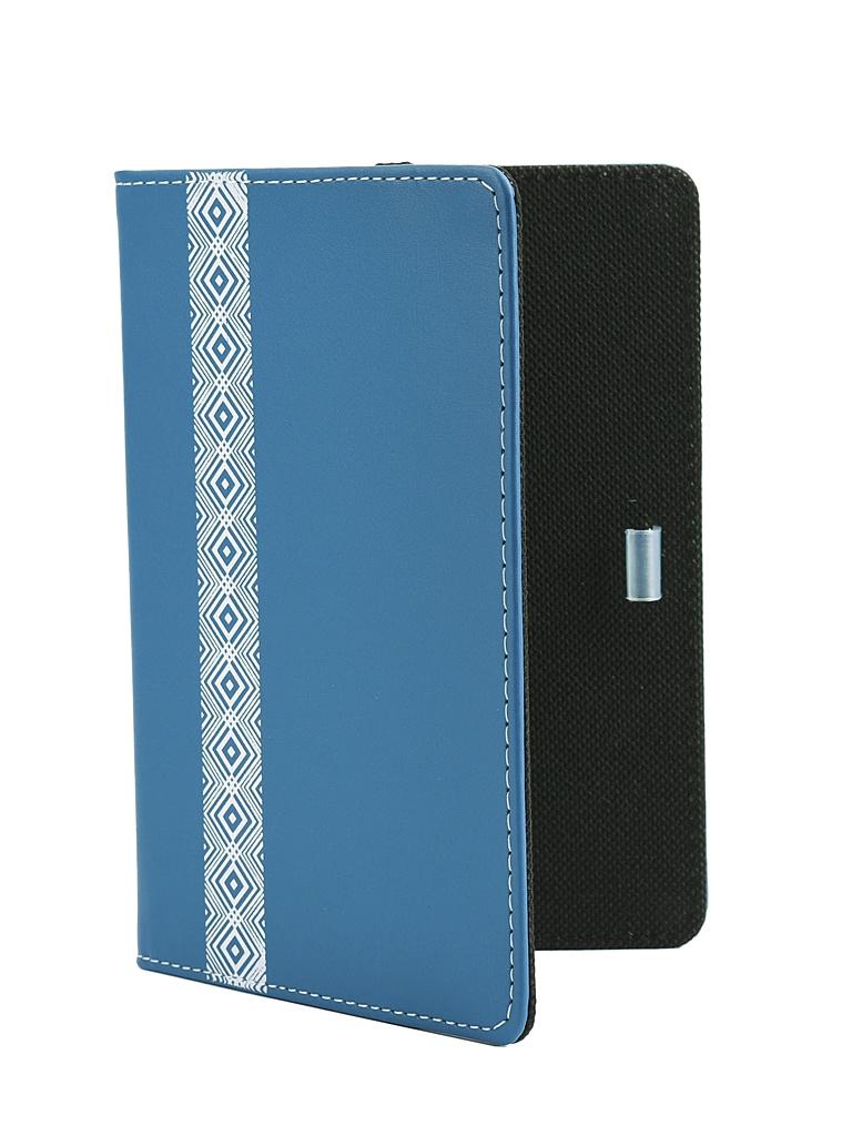 Аксессуар Чехол Vivacase для PocketBook 616/627/632 Romb Leather Blue VPB-P6R03-blue