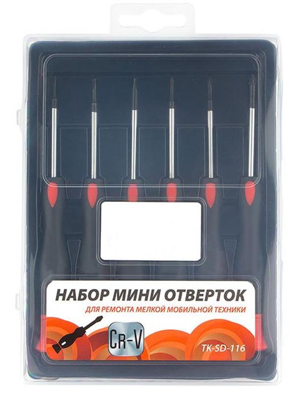 Набор отверток Gembird Cablexpert 6 предметов TK-SD-116