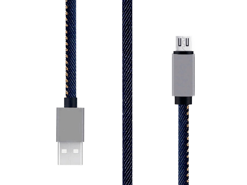 Аксессуар Maverick PC Style USB - MicroUSB Jeans ПSELAEP1266