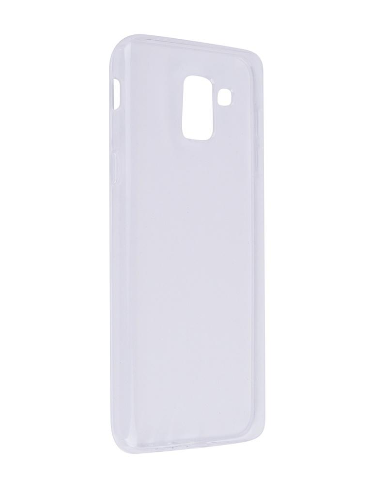 Аксессуар Чехол SkinBox для Samsung Galaxy J6 2018 Slim Silicone Transparent T-S-SGJ6-006