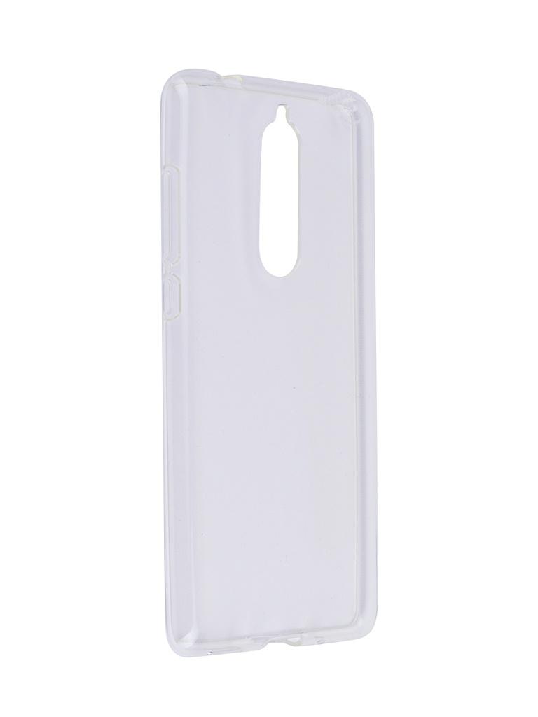 Аксессуар Чехол SkinBox для Nokia 5.1 Slim Silicone Transparent T-S-N51-006