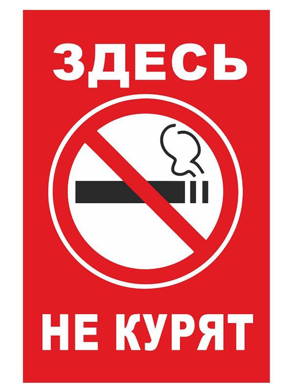 Табличка Mashinokom Здесь не курят 30x19.5cm TPO 007