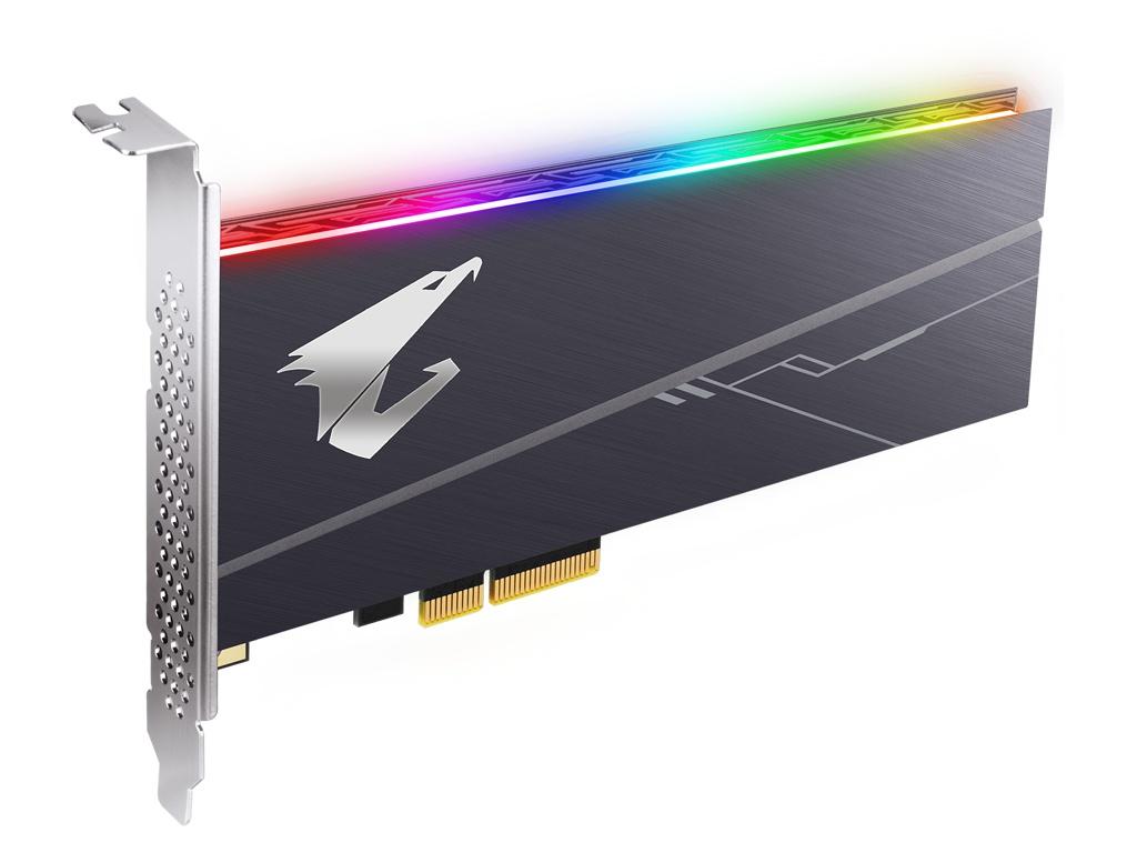 Твердотельный накопитель GigaByte Aorus 1Tb RGB AIC GP-ASACNE2100TTTDR
