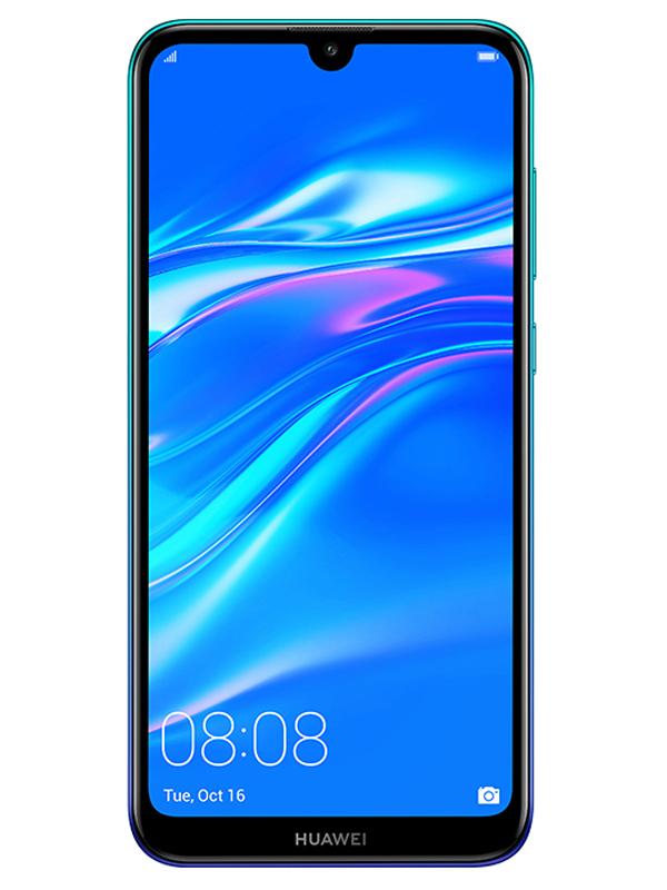 Сотовый телефон Huawei Y7 2019 3/32Gb Blue Выгодный набор + серт. 200Р!!! сотовый