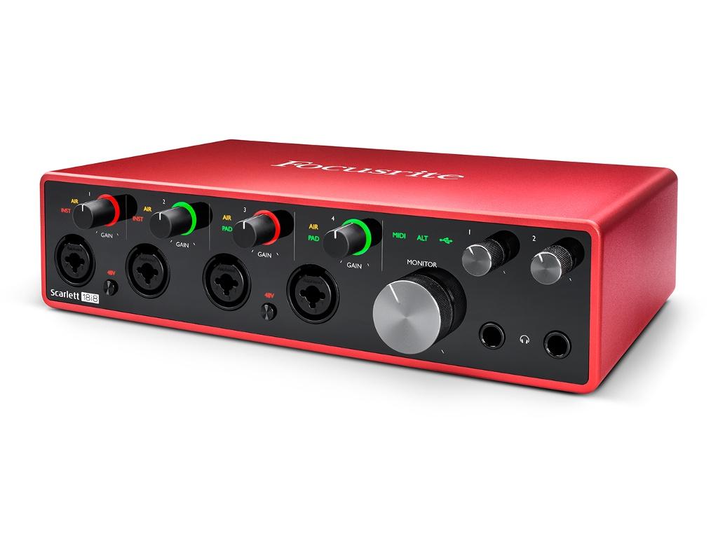 Аудиоинтерфейс Focusrite Scarlett 18i8 3rd Gen focusrite scarlett octopre
