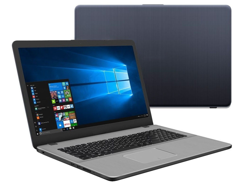 Ноутбук ASUS VivoBook Pro 17 N705FN-GC041T 90NB0JP1-M00590 (Intel Core i5-8265U 1.6GHz/6144Mb/1000Gb+128Gb SSD/No ODD/nVidia GeForce MX150 2048Mb/Wi-Fi/Bluetooth/Cam/17.3/1920x1080/Windows 10)