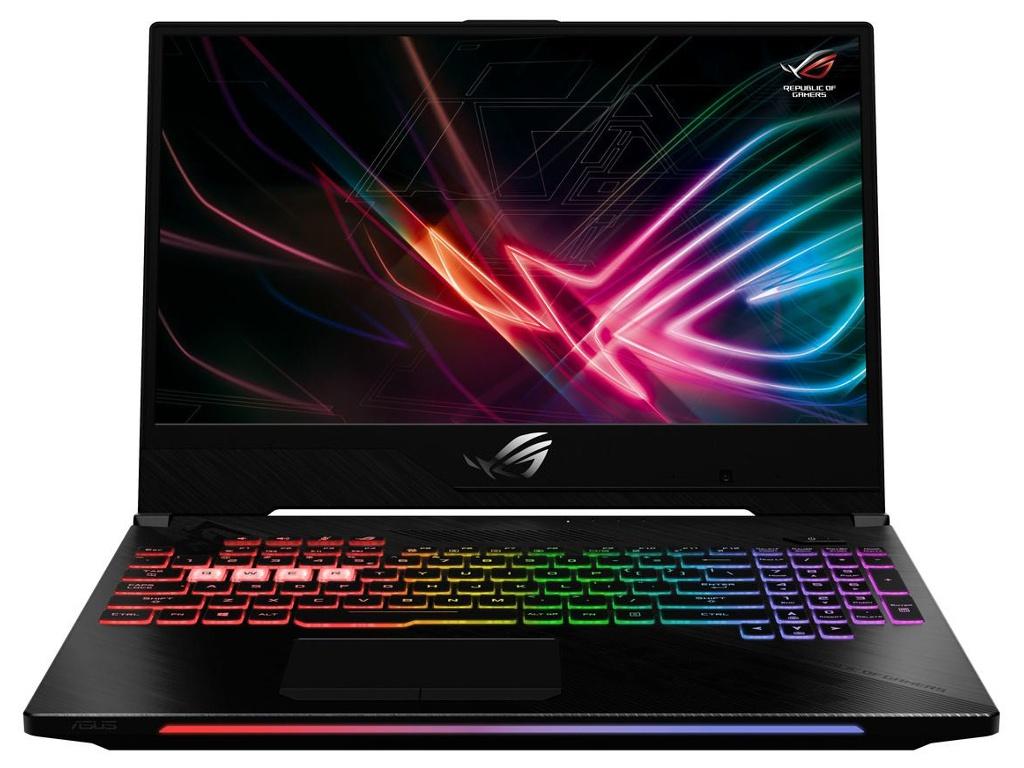 Ноутбук ASUS ROG Scar II GL504GV-ES064 90NR01X1-M01760 (Intel Core i7-8750H 2.2 GHz/16384Mb/1000Gb+128Gb SSD/nVidia GeForce RTX 2060 6144Mb/Wi-Fi/Bluetooth/Cam/15.6/1920x1080/DOS) все цены