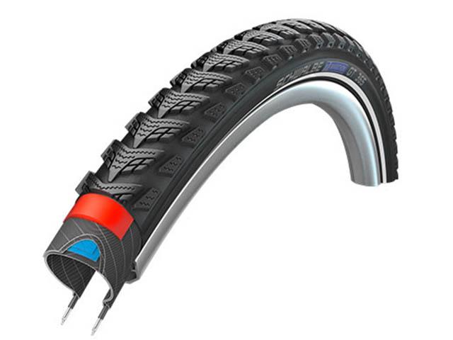 Велопокрышка Schwalbe Marathon GT 365, HS 475, 28x1.50, 40-622, Performance Line, Four Season, DualGuard, TwinSkin, Black-Reflex, 11101205