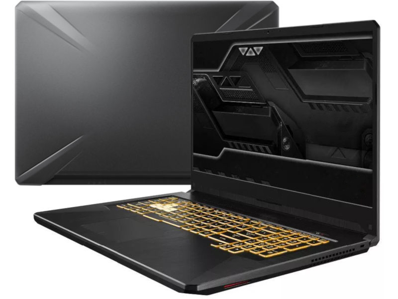 Ноутбук ASUS TUF FX705GM-EW175 90NR0121-M06160 (Intel Core i5-8300H 2.3 GHz/8192Mb/512Gb SSD/nVidia GeForce GTX 1060 6144Mb/Wi-Fi/Bluetooth/Cam/17.3/1920x1080/DOS)