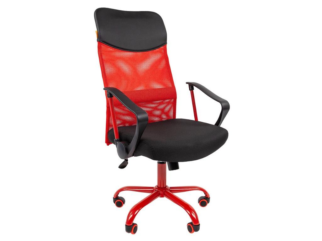 Компьютерное кресло Chairman 610 CMet 15-21 Black-Red TW 00-07021399