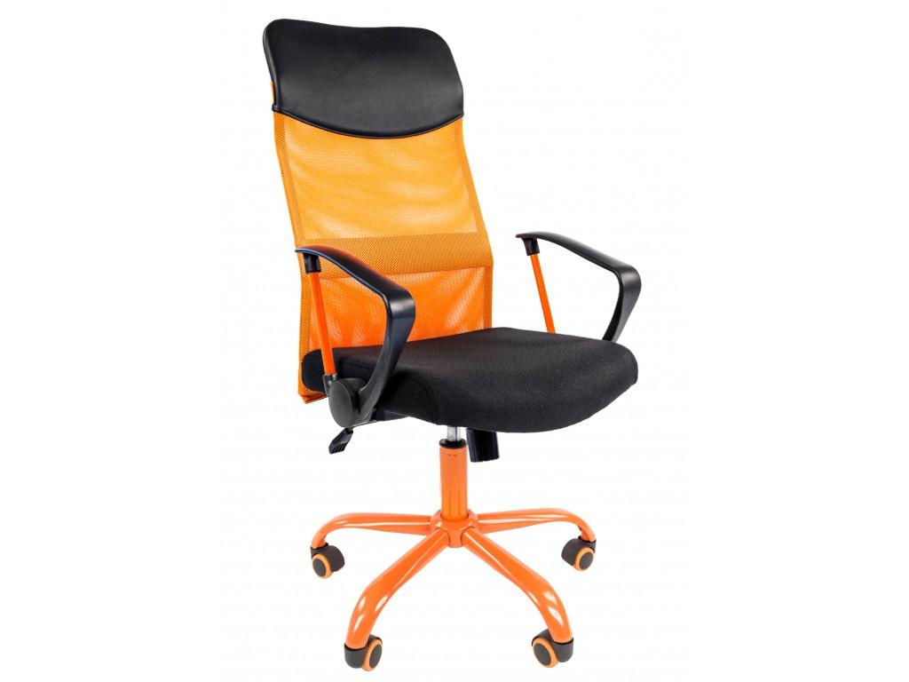 Компьютерное кресло Chairman 610 CMet 15-21 Black-Orange TW 00-07021400