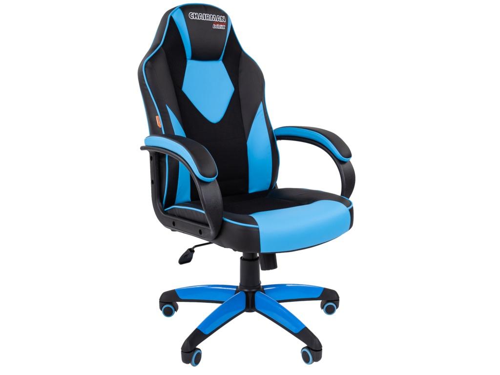 Компьютерное кресло Chairman GAME 17 Black-Blue