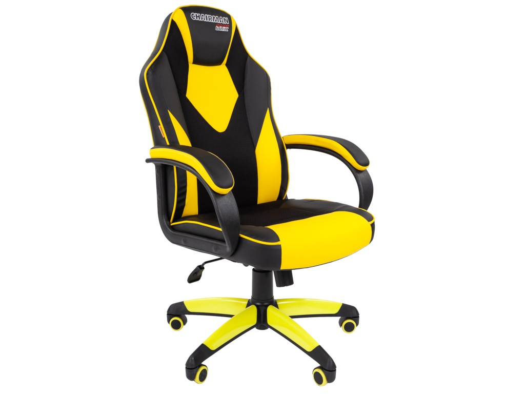 Компьютерное кресло Chairman GAME 17 Black-Yellow