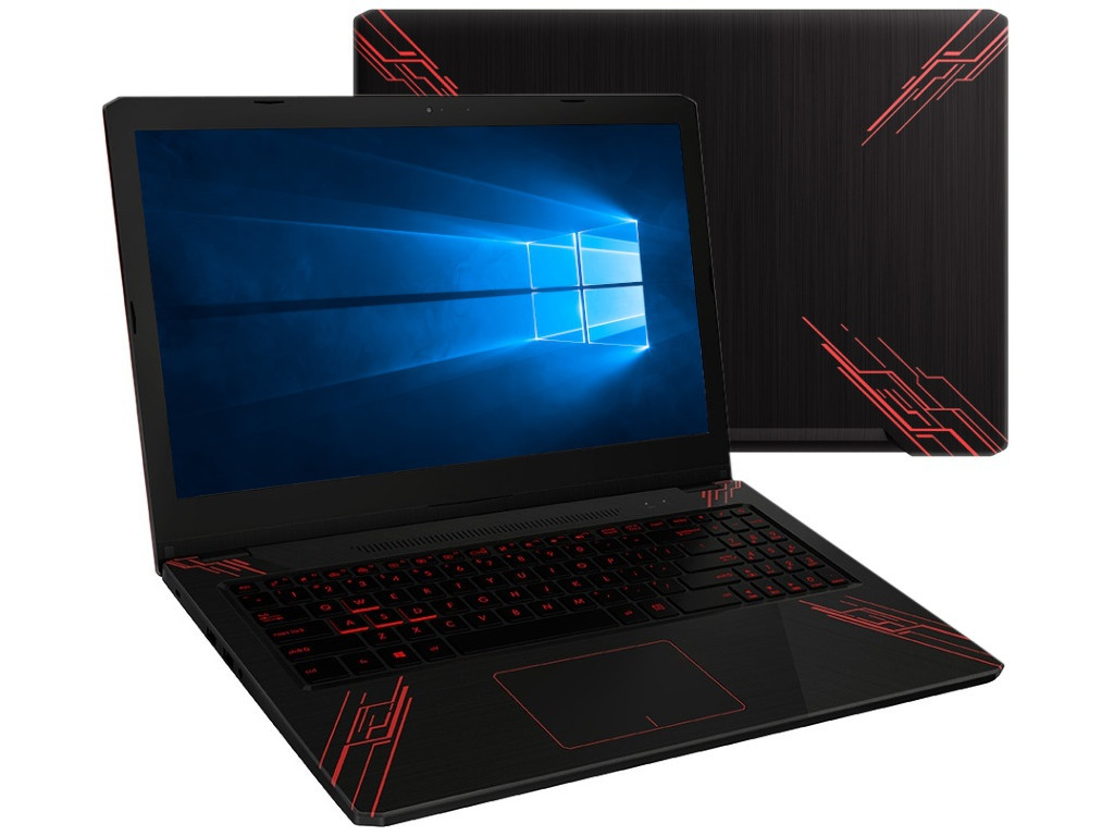 Ноутбук ASUS TUF FX570UD-DM189T 90NB0IX1-M02480 (Intel Core i5-8250U 1.6 GHz/6144Mb/1000Gb+128Gb SSD/nVidia GeForce GTX 1050 2048Mb/Wi-Fi/Bluetooth/Cam/15.6/1920x1080/Windows 10 Home 64-bit)