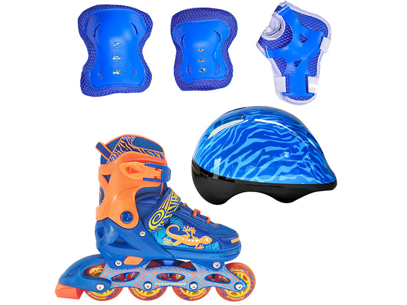 Коньки Tech Team Jungle Set р.34-37 Blue
