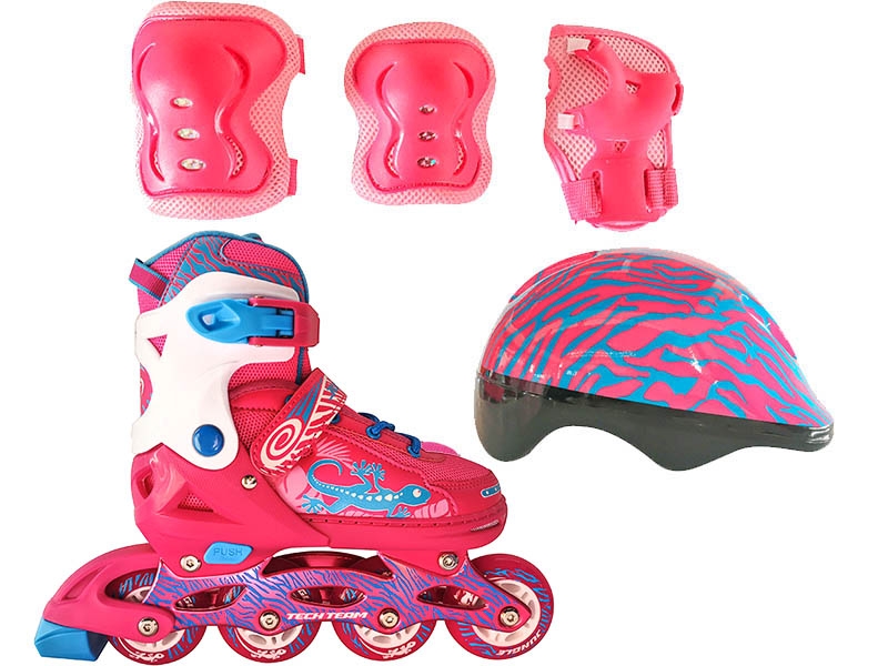 Коньки Tech Team Jungle Set р.34-37 Pink