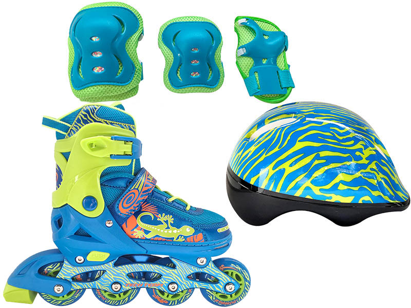 Коньки Tech Team Jungle Set р.34-37 Light Blue