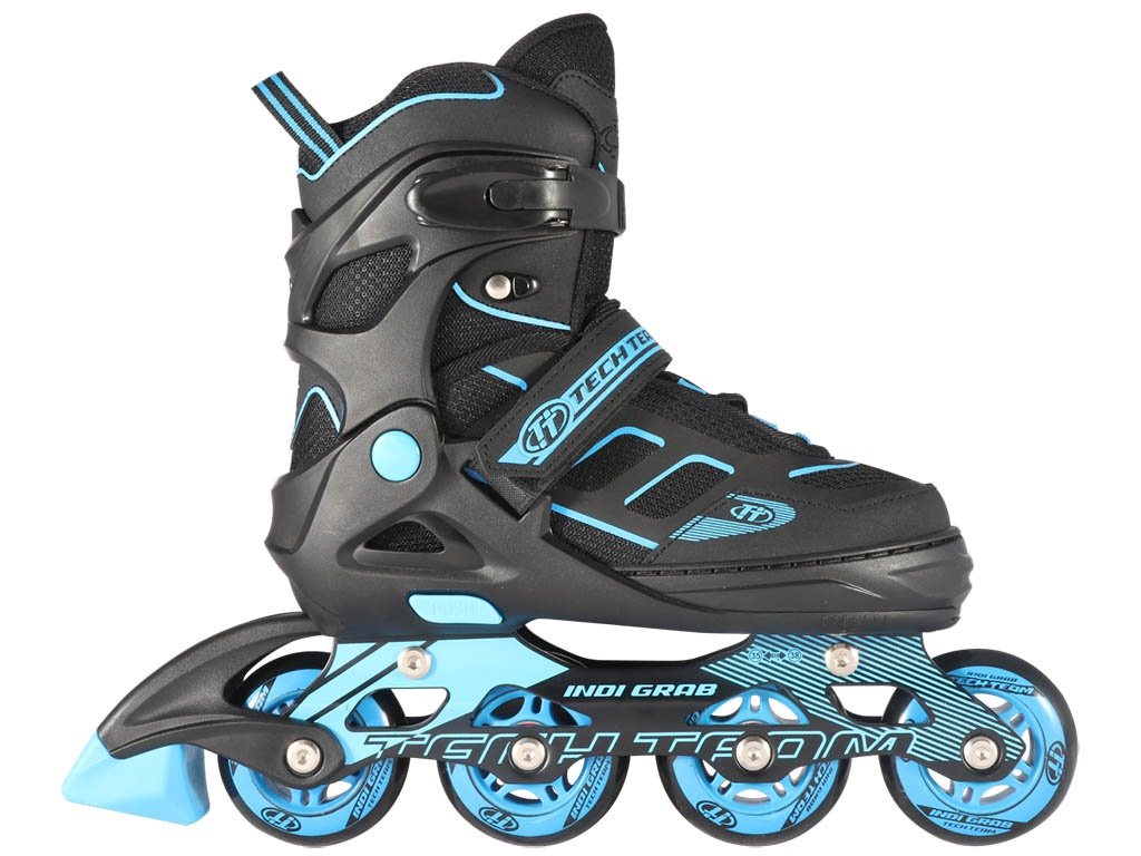 Коньки Tech Team Indy Grab р.31-34 Black-Light Blue