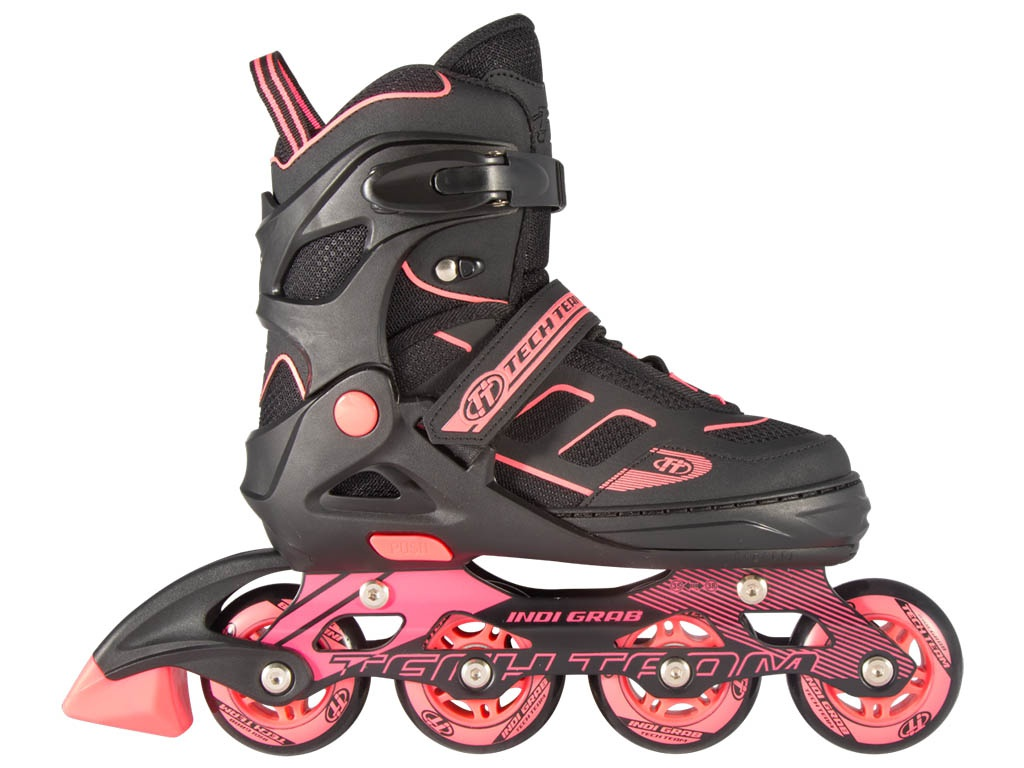 Коньки Tech Team Indy Grab р.31-34 Black-Pink