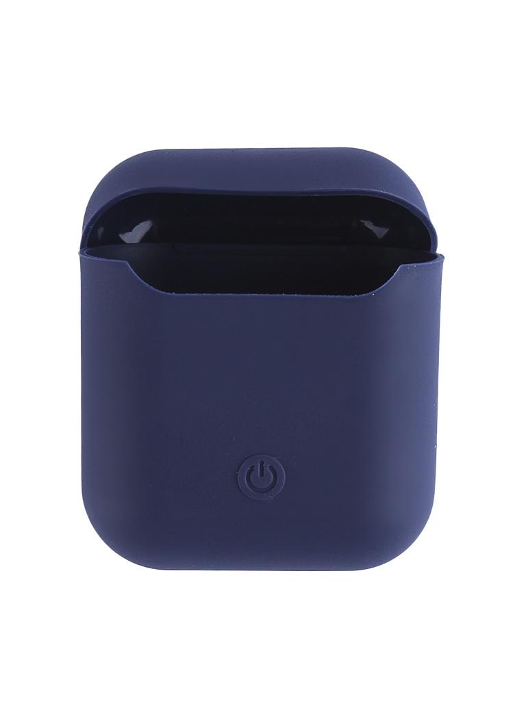 Чехол Krutoff для AirPods Silicon Case Midnight Blue 10856