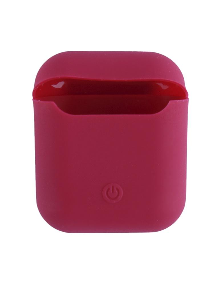 Аксессуар Чехол Krutoff для AirPods Silicon Case Rose Red 10859