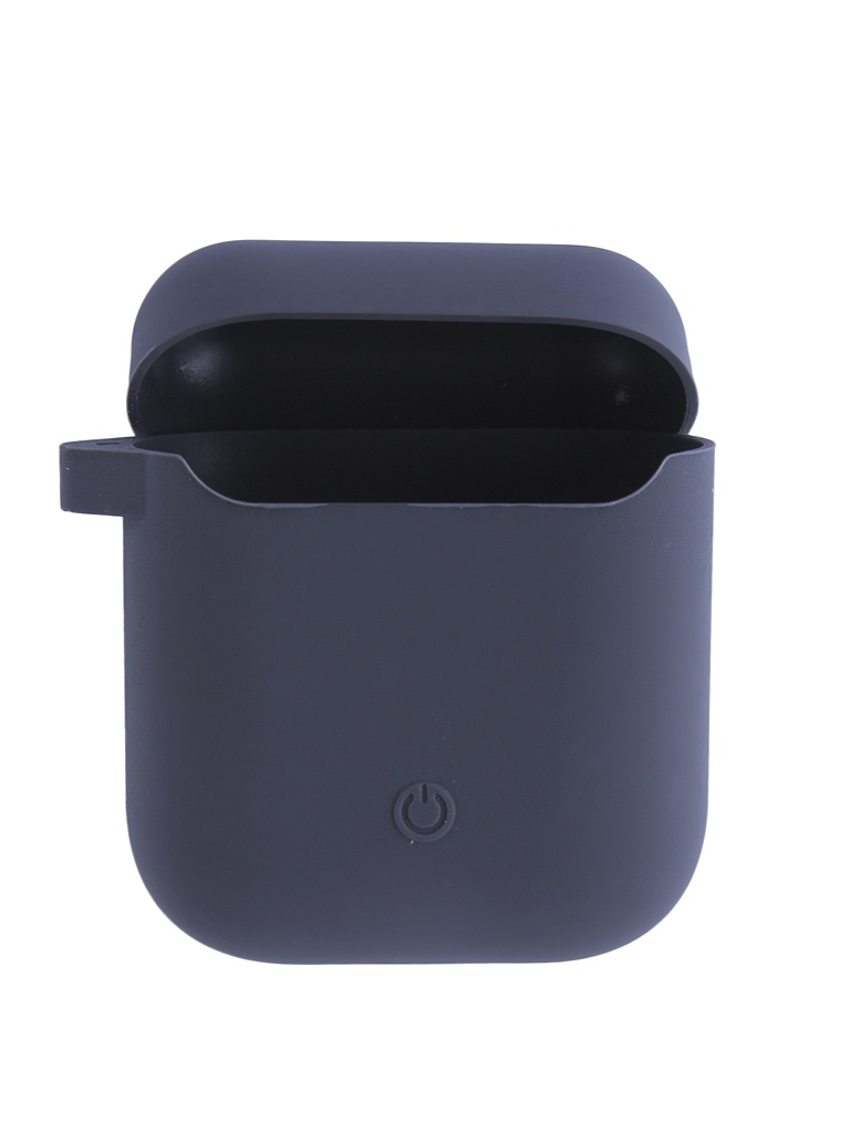 Чехол Krutoff для AirPods Silicon Case With Carbine Dark Grey 10864