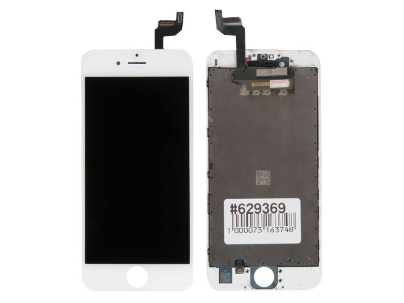 Дисплей RocknParts для APPLE iPhone 6S в сборе с тачскрином Refurbished White 629369 дисплей rocknparts для apple iphone 7 white 632935