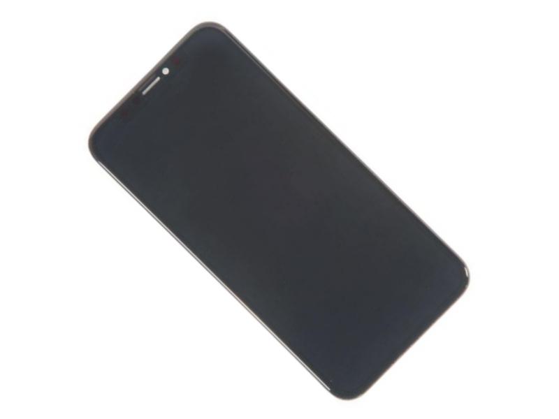 Дисплей RocknParts для APPLE iPhone X в сборе с тачскрином TFT Black 563922 12storeez жакет на молнии из вельвета коричневый