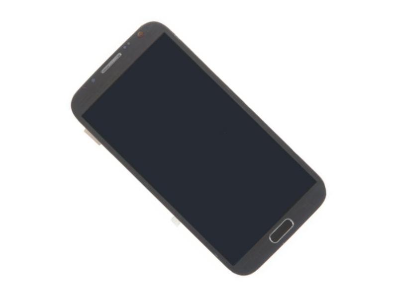 Дисплей RocknParts для Samsung Galaxy Note 2 GT-N7100 в сборе с тачскрином и передней панелью Grey 267770 чехол пластиковый samsung efc 1j9bwegstd protective cover white для gt n7100 galaxy note 2 белый
