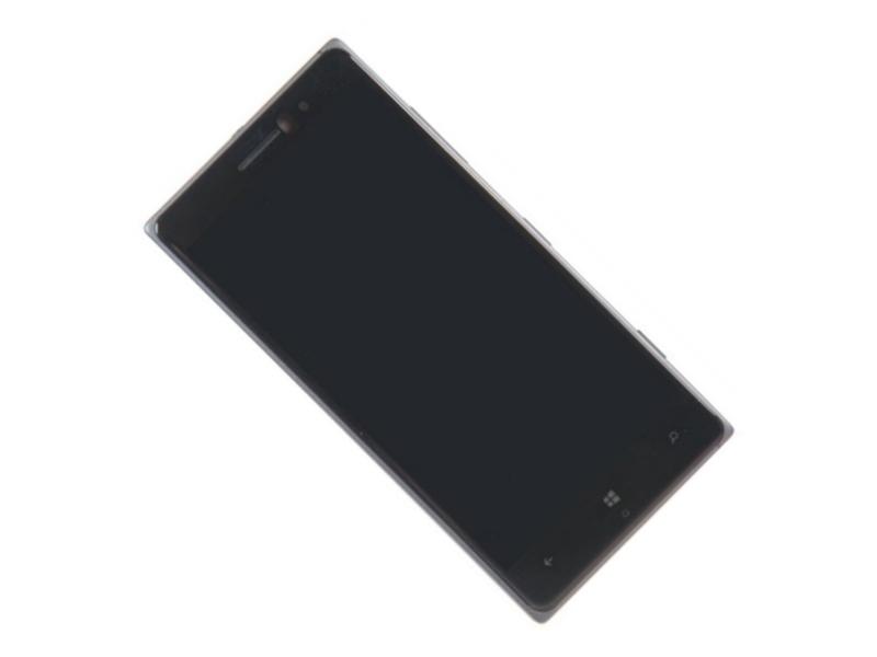 Дисплей RocknParts для Nokia Lumia 830 в сборе с тачскрином и передней панелью Black 442543