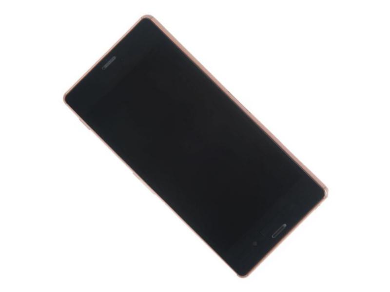 Дисплей RocknParts для Sony Xperia Z3 D6603 в сборе с тачскрином и передней панелью Bronze 384453