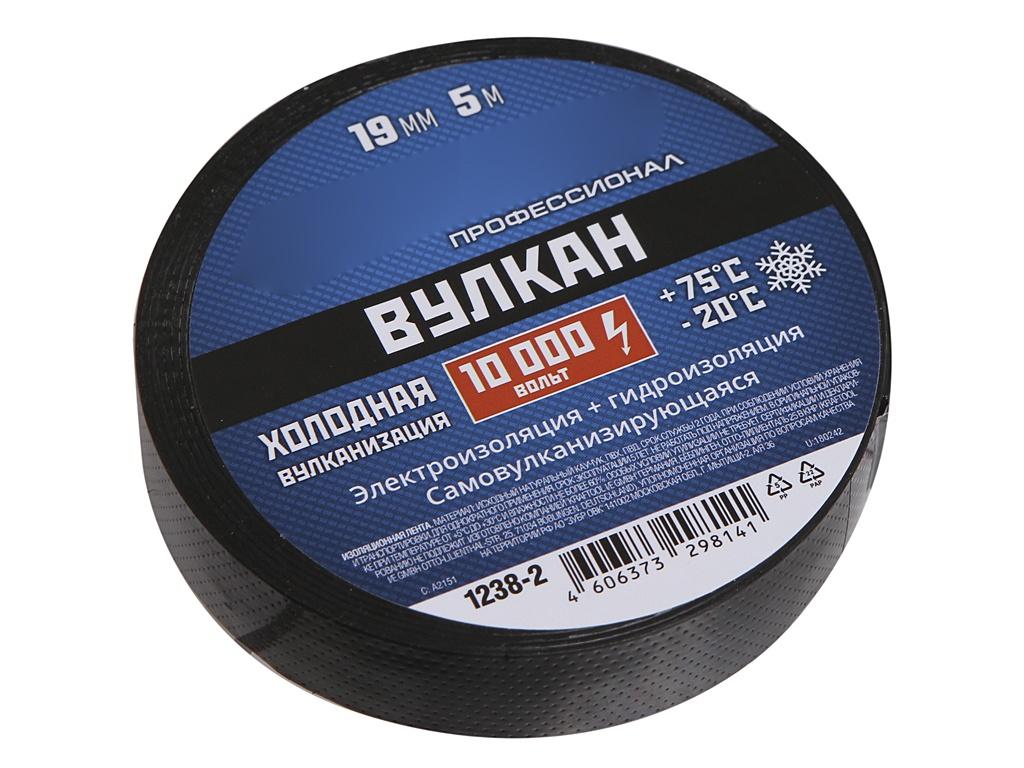 Зубр Вулкан 19mm х 5m Black 1238-2