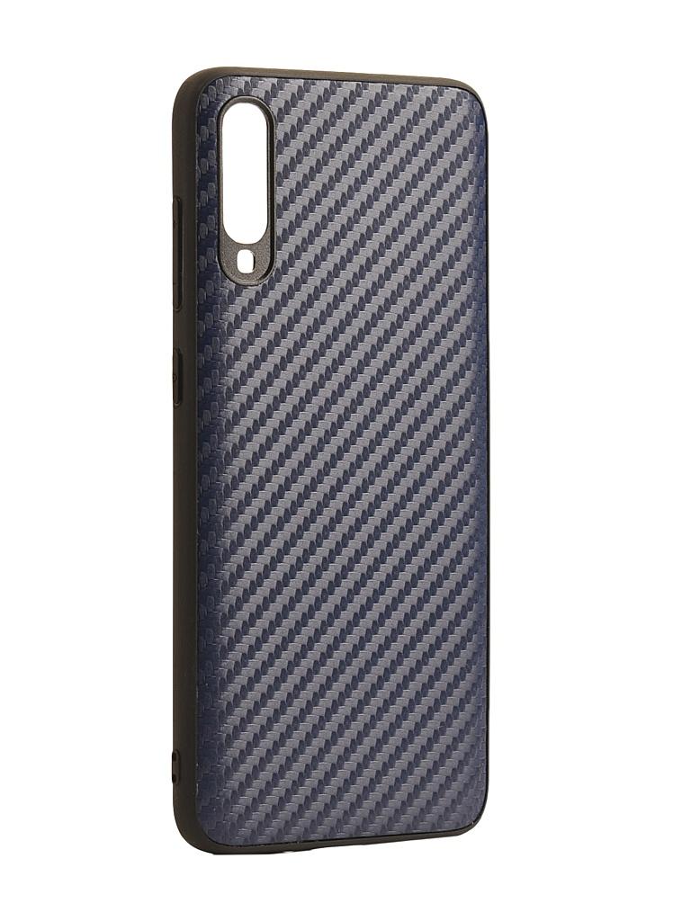 Чехол G-Case для Samsung Galaxy A70 SM-A705F Carbon Dark Blue GG-1110 чехол g case для samsung galaxy a70 sm a705f slim premium black gg 1049
