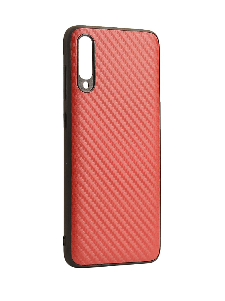 Аксессуар Чехол G-Case для Samsung Galaxy A70 SM-A705F Carbon Red GG-1109
