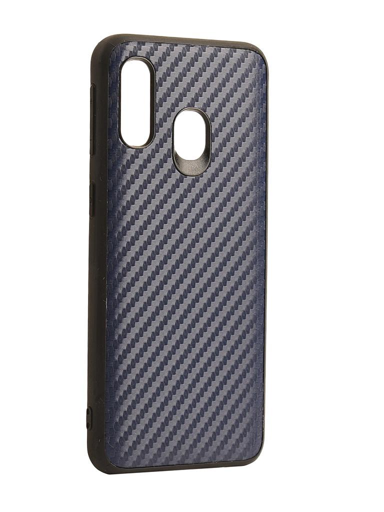 Аксессуар Чехол G-Case для Samsung Galaxy A40 SM-A405F Carbon Dark Blue GG-1108